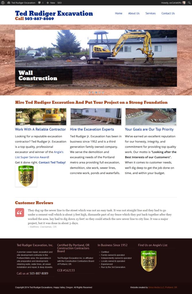Ted Rudiger Excavation website